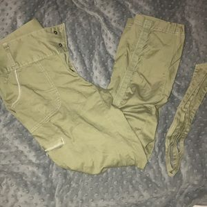 🔥 Athleta size 8 olive ruched skinny pants💥
